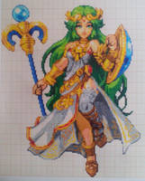 Pixel art Super smash bros: Palutena by PaintPixelArt
