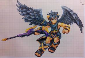 Pixel art Super smash bros: Dark Pit by PaintPixelArt