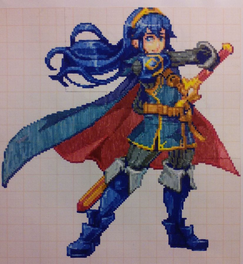 Pixel art Super smash bros: Lucina by PaintPixelArt on ...