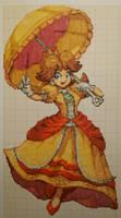 Pixel art Super Smash Bros: Daisy by PaintPixelArt