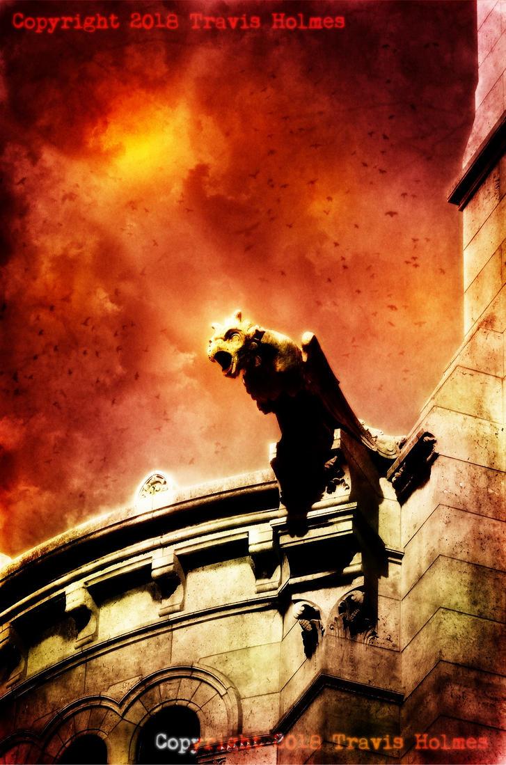 Gothic Gargoyle by WendigoMoon