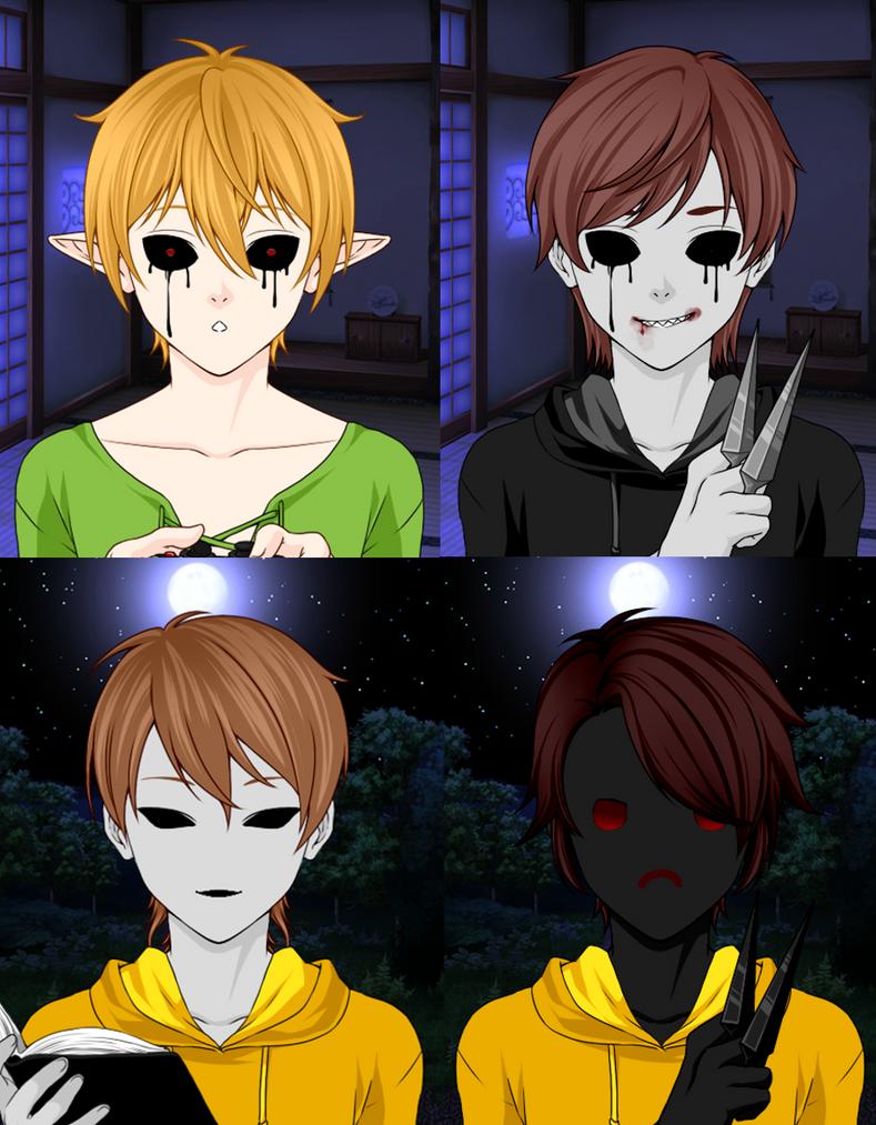 Rinmaru Designs - Creepypasta Boys by LastoftheWolves