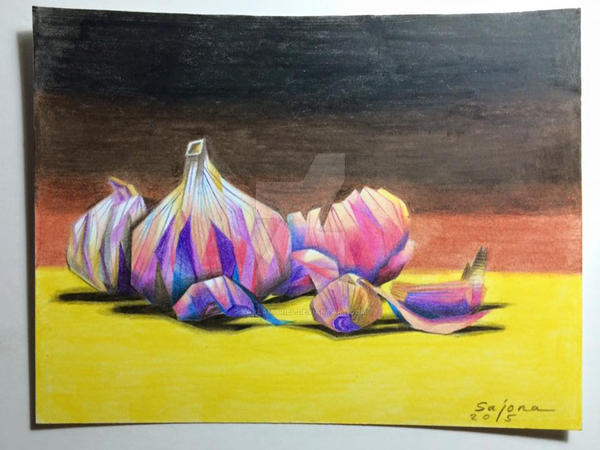 Garlic Still Life by karlamuriel