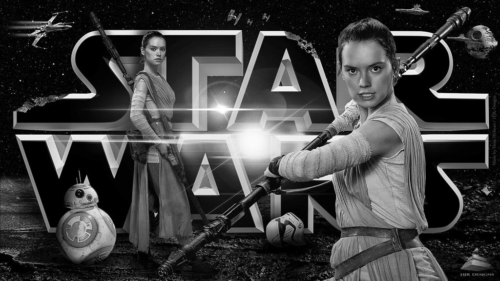StarWars Rey v1 (Black/White) by HJR-Designs