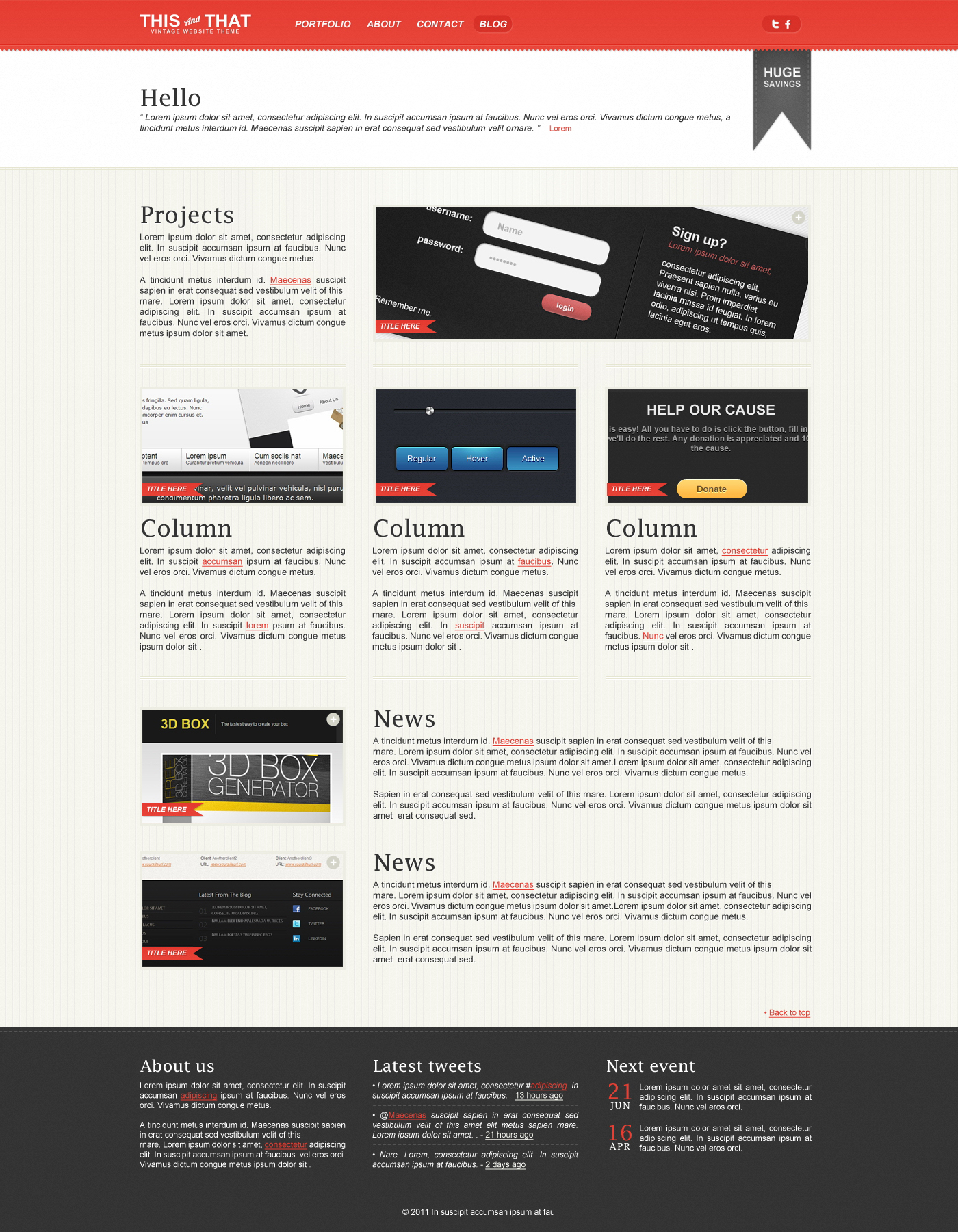 THISandTHAT Website Template