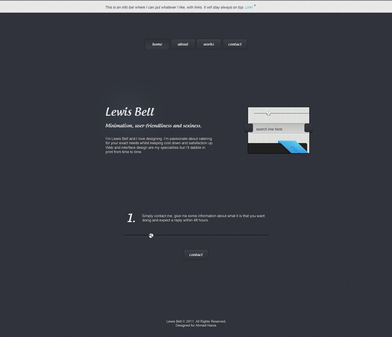 Minimal Portfolio Site Layout