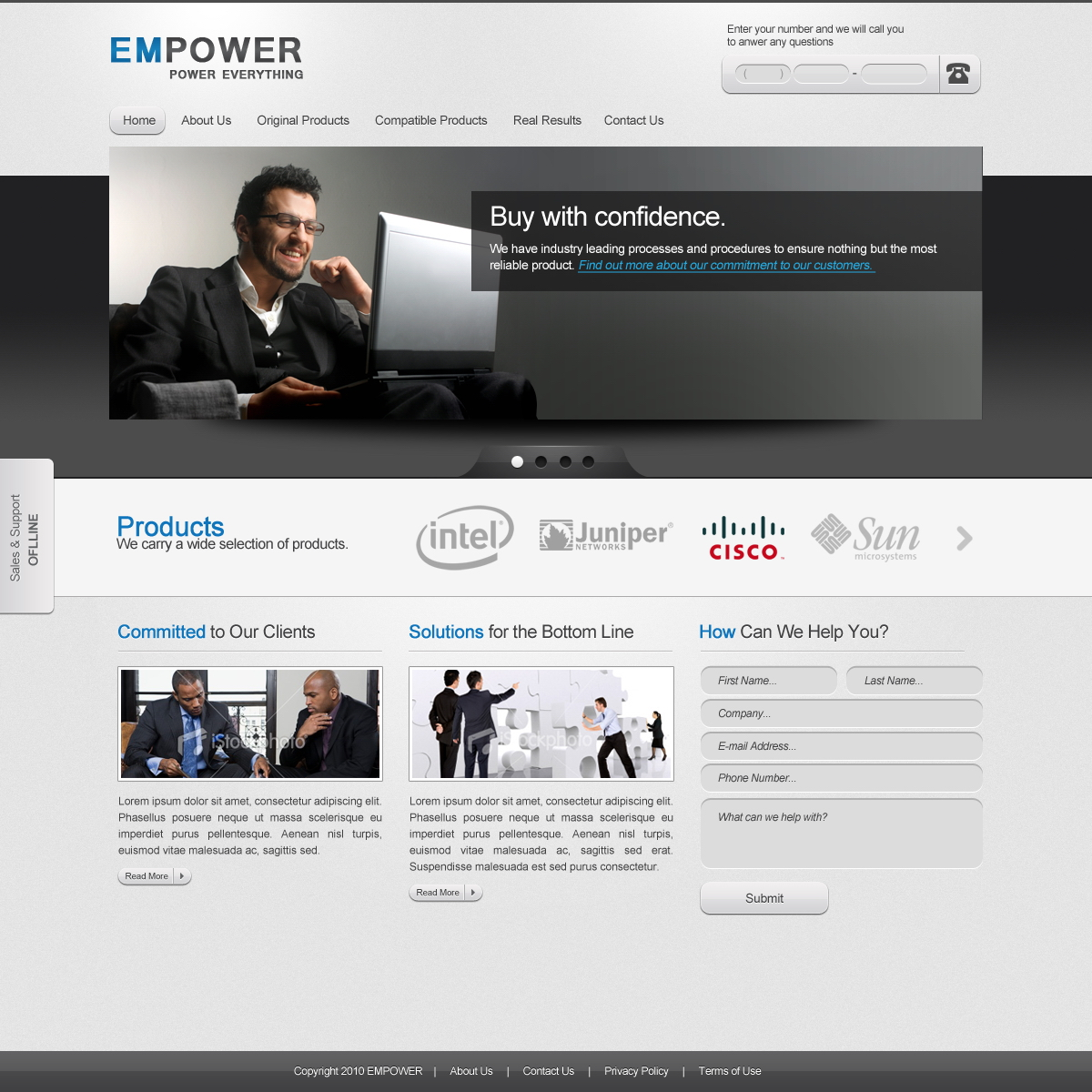EMPOWER: Free PSD Template