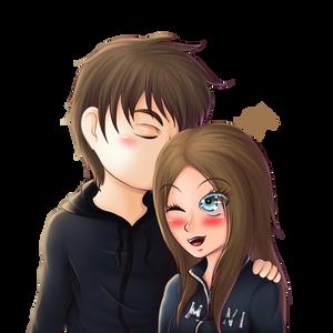 #48 -I love u- chibi couple