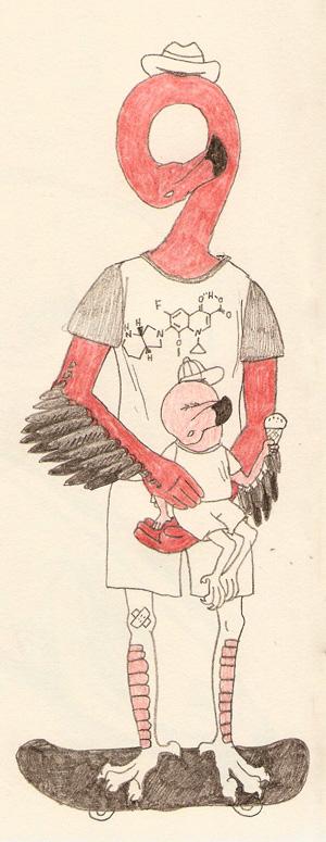 mr. flamingo and offspring by gescheitert