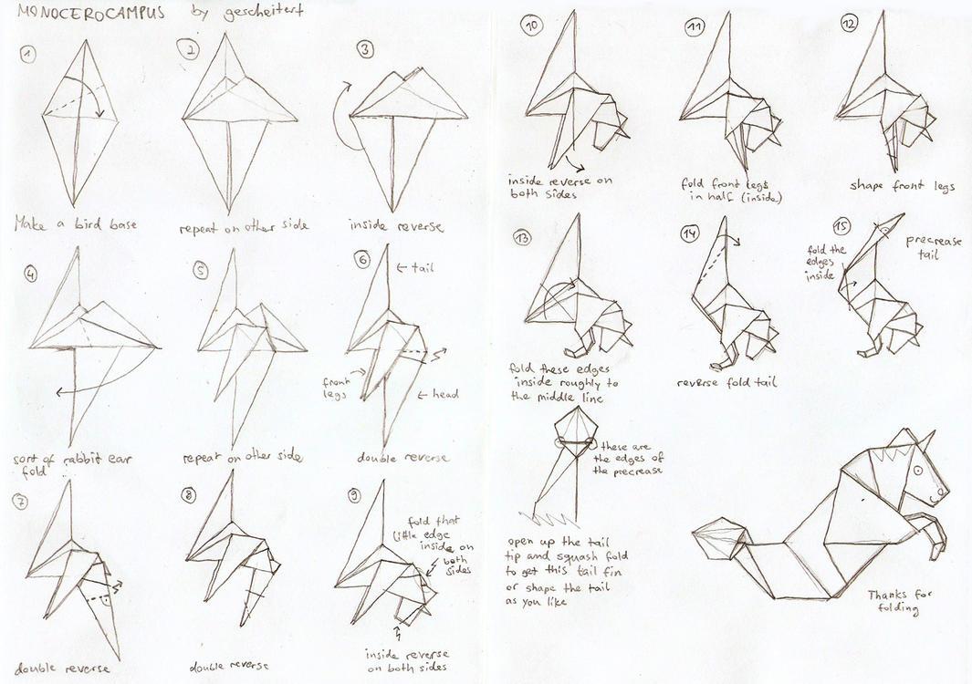 origamimonocerocampus diagrams by gescheitert on deviantart