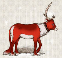 red winter unicorn by gescheitert