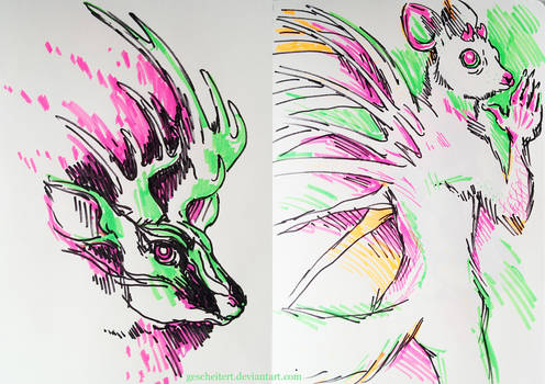 Highlighter drawings