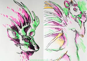 Highlighter drawings