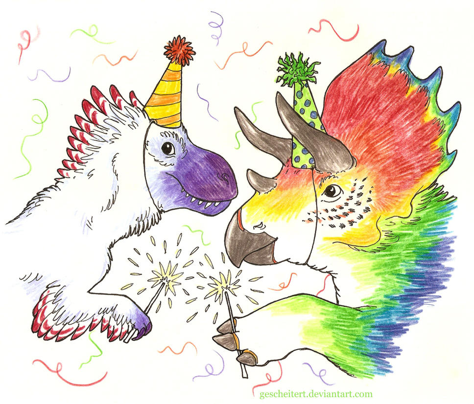 Dinosaur Birthday by gescheitert