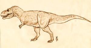 Tyrannosaurus rex by Roninwolf1981
