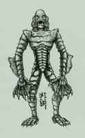 Spooky Scary - Creature from the Black Lagoon by Roninwolf1981