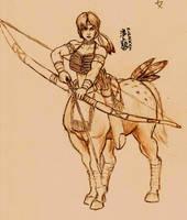 Sheida Prepares to Draw by Roninwolf1981