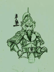 2013 sketch Shu Han soldier