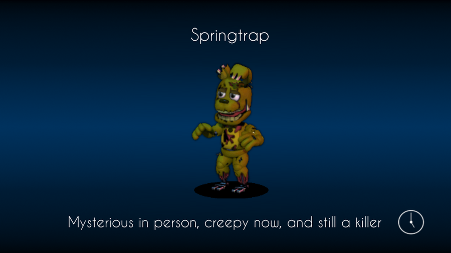 Springtrap loading screen fnaf world by thekidster12