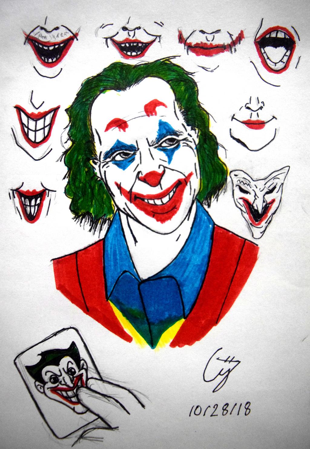 Inktober Drawings 26 Joaquin Phoenix Joker By Thekidster12