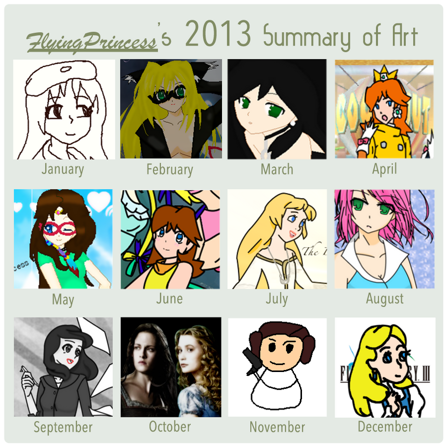 My 2013 Summary of Art by FlyingPrincess