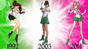 Sailor Jupiter Over The Years