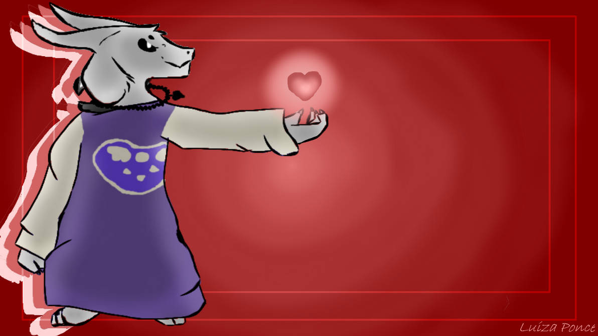 Asriel Dreemurr Wallpaperyes Again By Lulyponce On Deviantart