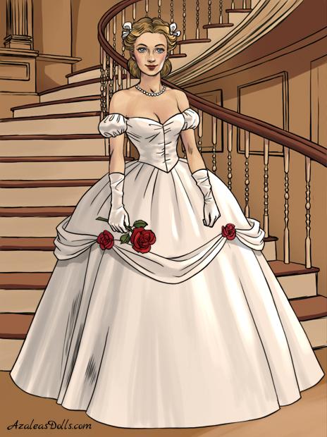Southern Belle Wedding Dress By Disneyfan108 On Deviantart