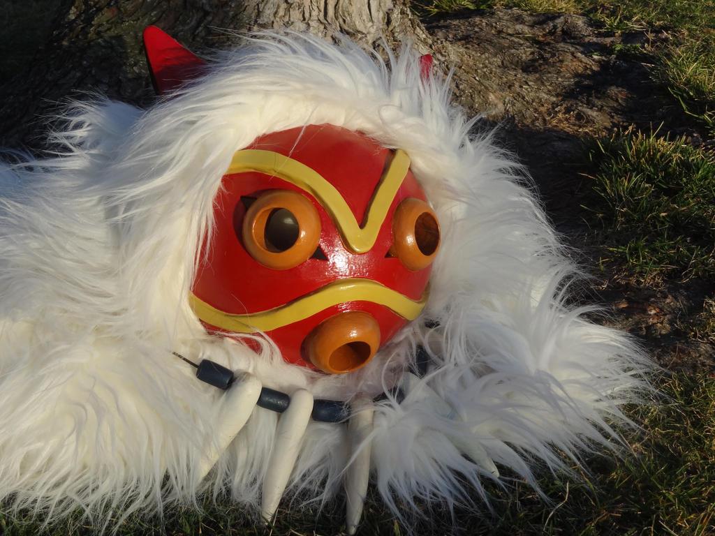 how to make princess mononoke mask