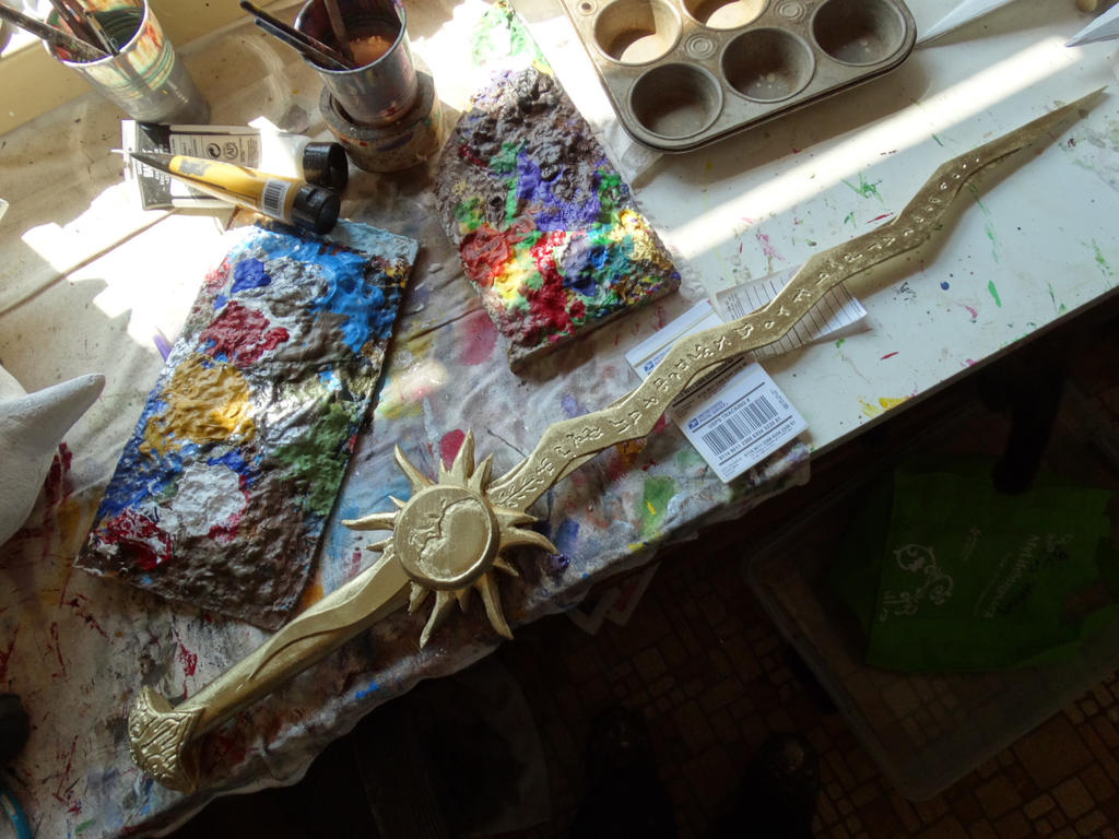 Tournesol Sword Progress by meanlilkitty
