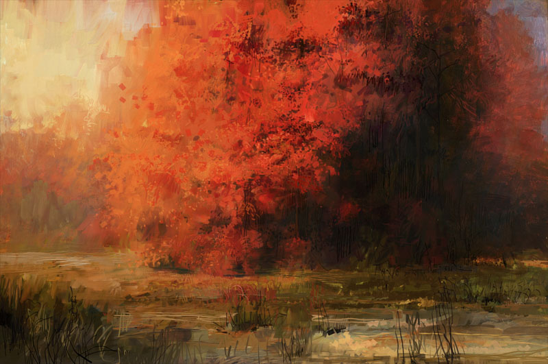 Red Forest by lukpazera