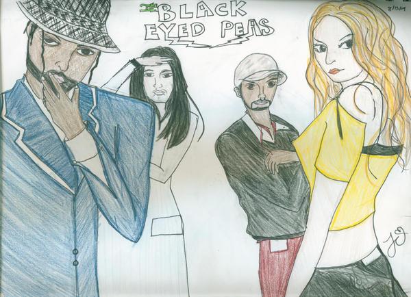 The Black Eyed Peas by islandcutie1202