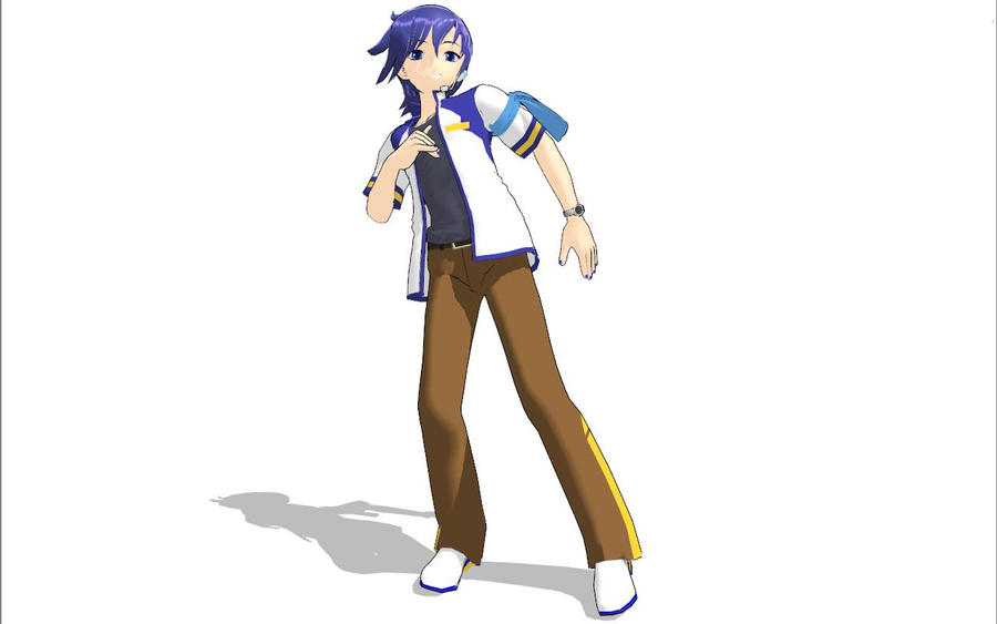 Love this Kaito by MMDbeginner