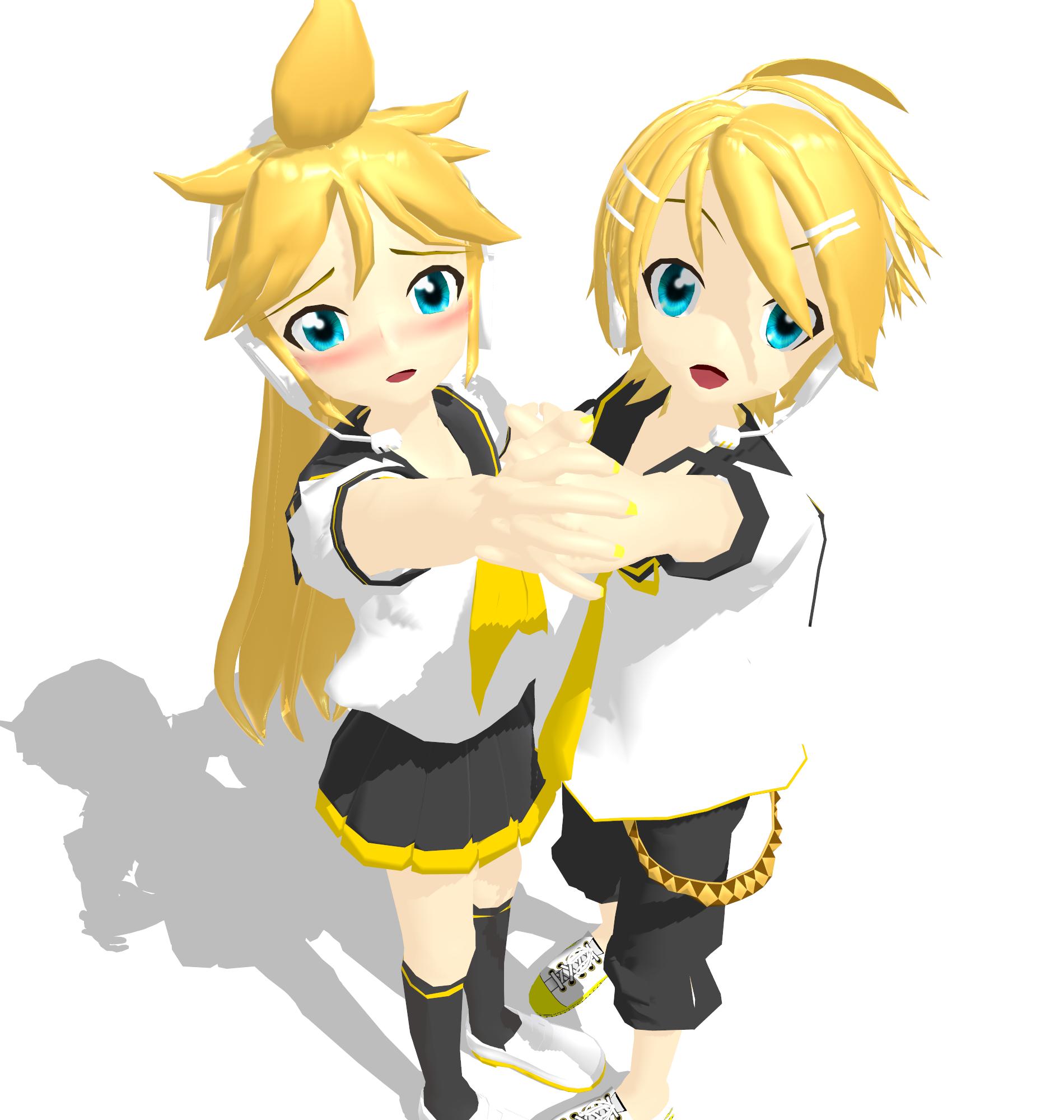 Kagamine Rinto and Lenka by MMDbeginner