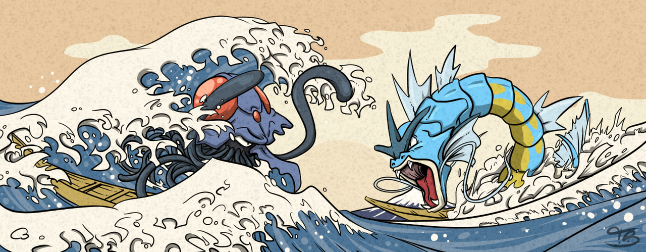 Giant Battle Off Kanagawa by TreyBarksArt on DeviantArt