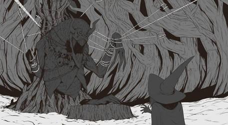 The Wendigo Witch by TreyBarksArt