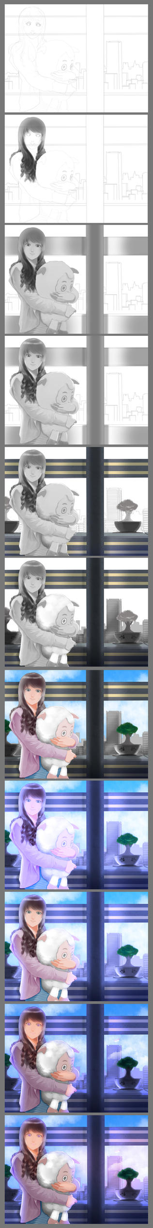 step by step girl and doll by Dye-EvolveII