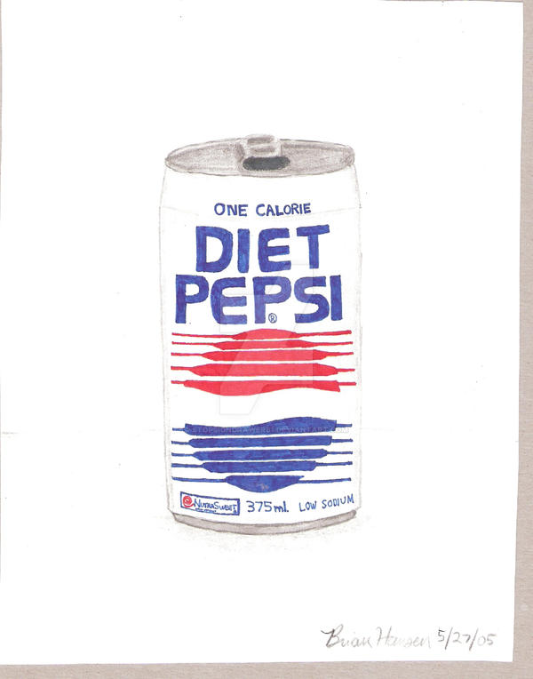 Diet Pepsi- ca. 1990 by stopsigndrawer81 on DeviantArt