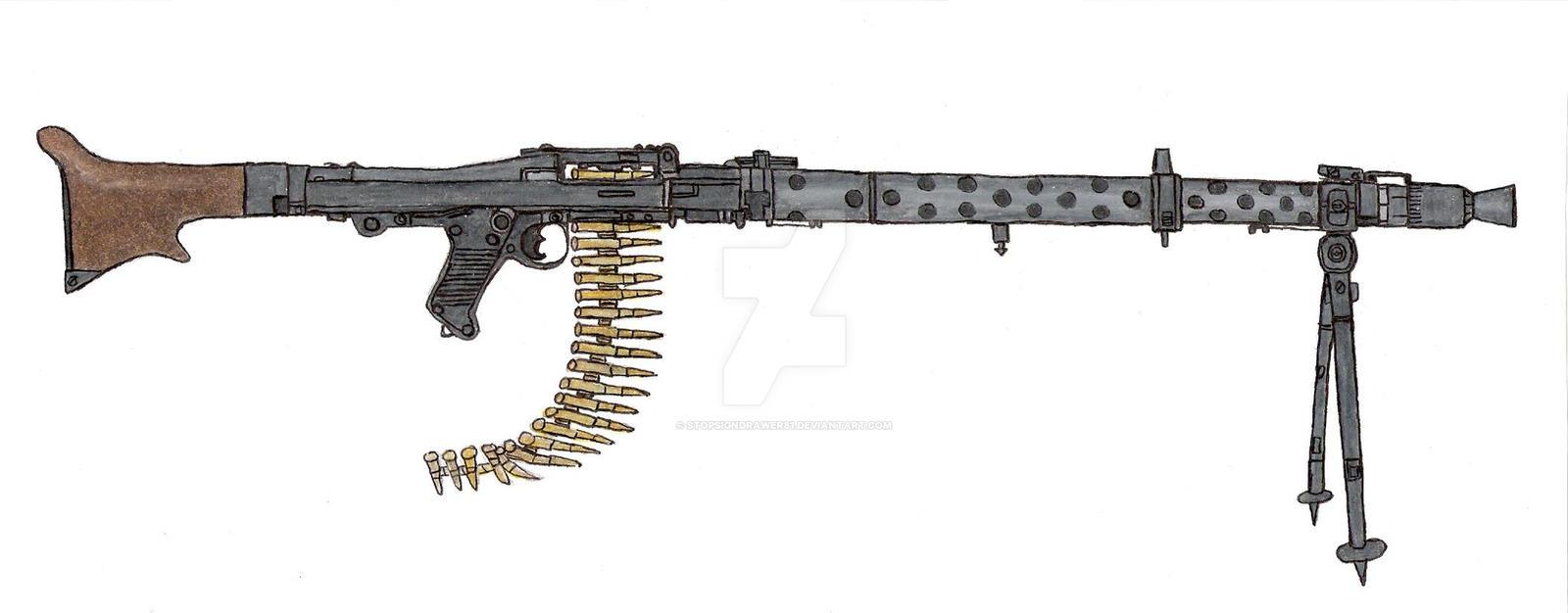 Maschinegewehr 42 Wallpaper: MG34 Machine Gun By Stopsigndrawer81 On DeviantArt
