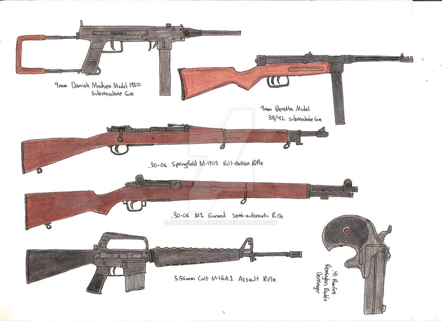 Assorted Guns 4 by stopsigndrawer81 on DeviantArt