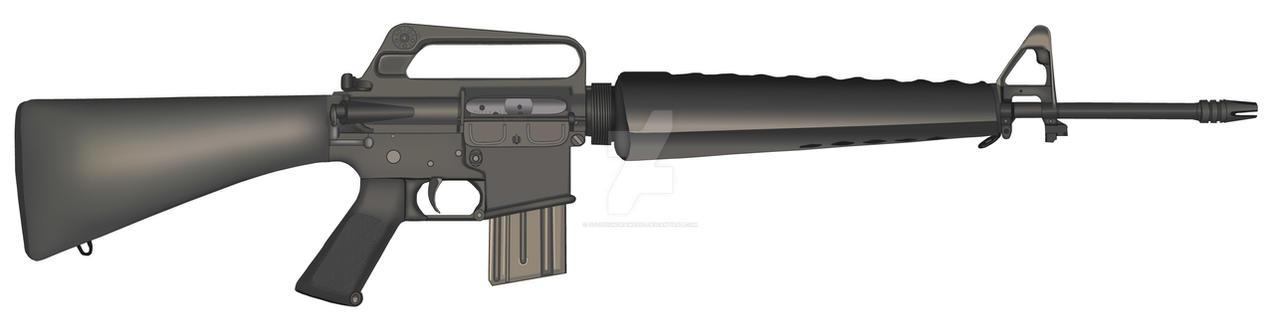 Vietnam Era Colt M-16 Rifle by stopsigndrawer81