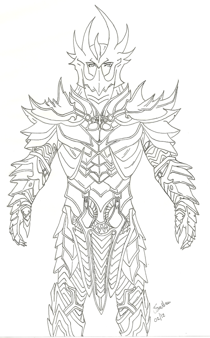 Skyrim Deadric Armor by SlushPuppy on DeviantArt