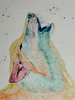 Howling wolf / Hurler a la lune
