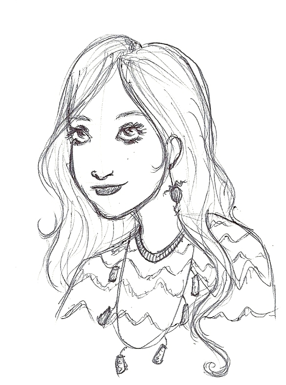 Pin luna lovegood colouring pages on pinterest for Luna lovegood coloring pages