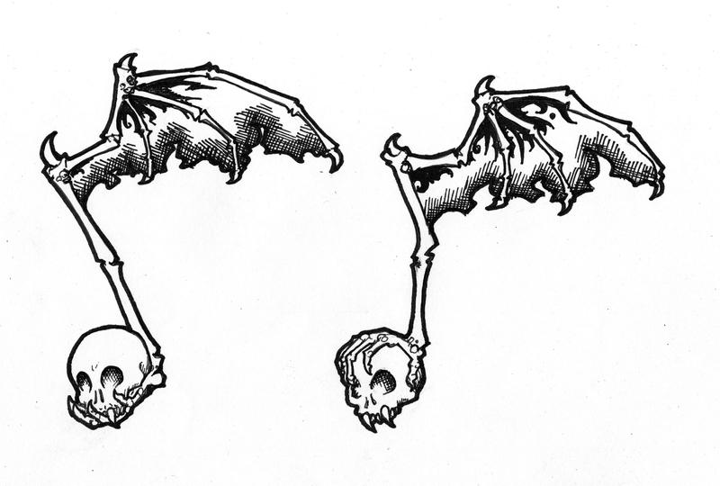 Skull Music Note Tattoo Design by Raenyras