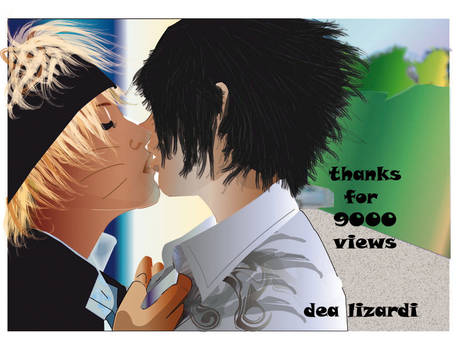 thanks for 9000 views sasunaru