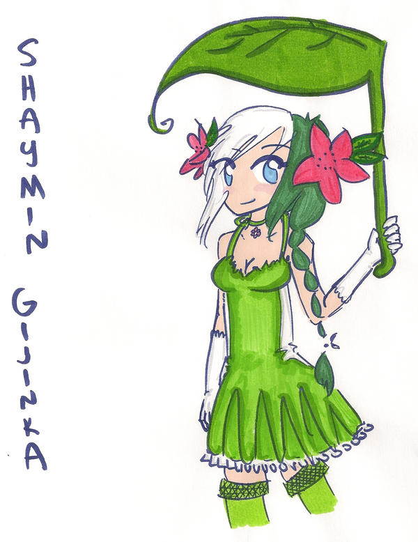 Shaymin Gijinka by AlchemistOfShadows on DeviantArt