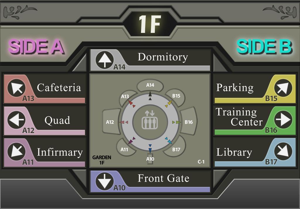 Balamb Garden - 1st Floor Map [Final Fantasy VIII] by Kaspar03 on ...