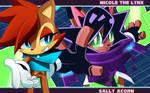 Sonic Skyline Fanart: Sally and Nicole