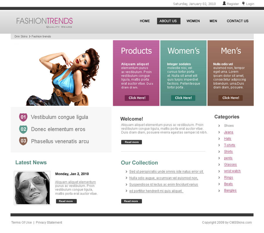 Fashion Web Design Template By Salmanlp On Deviantart